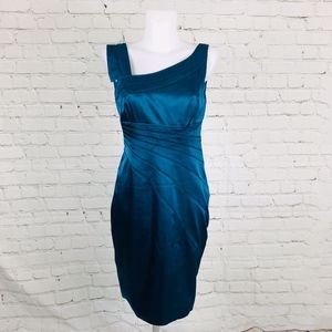 Teal Adriana Papell Boutique Dress SZ 8